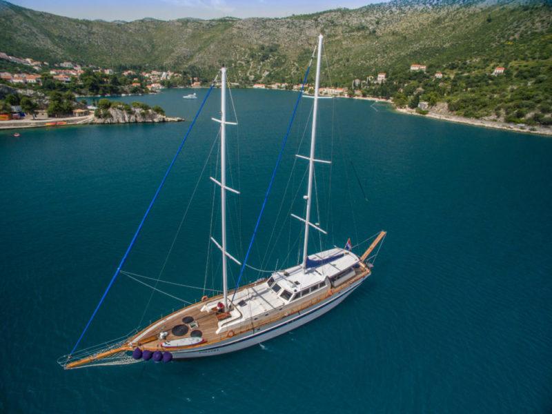 Gulet Charter Fortuna anchoring